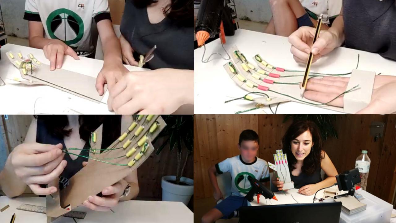 2/7/20: 1er taller STEM per a infants de col·legiats/des de la TEG / 1er taller STEM para hij@s de colegiados/as de la TEG