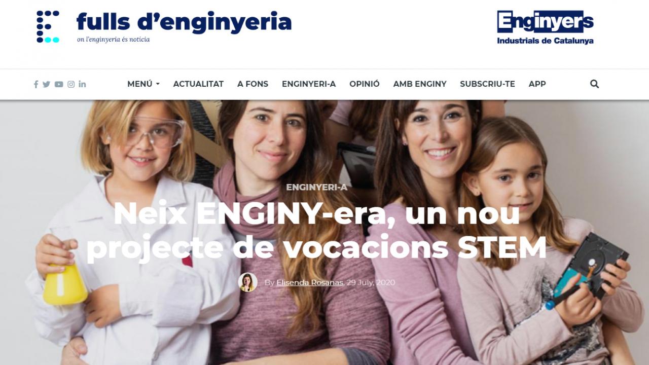 No et perdis l'article que dedica @FullsEnginyeria a ENGINY-era!