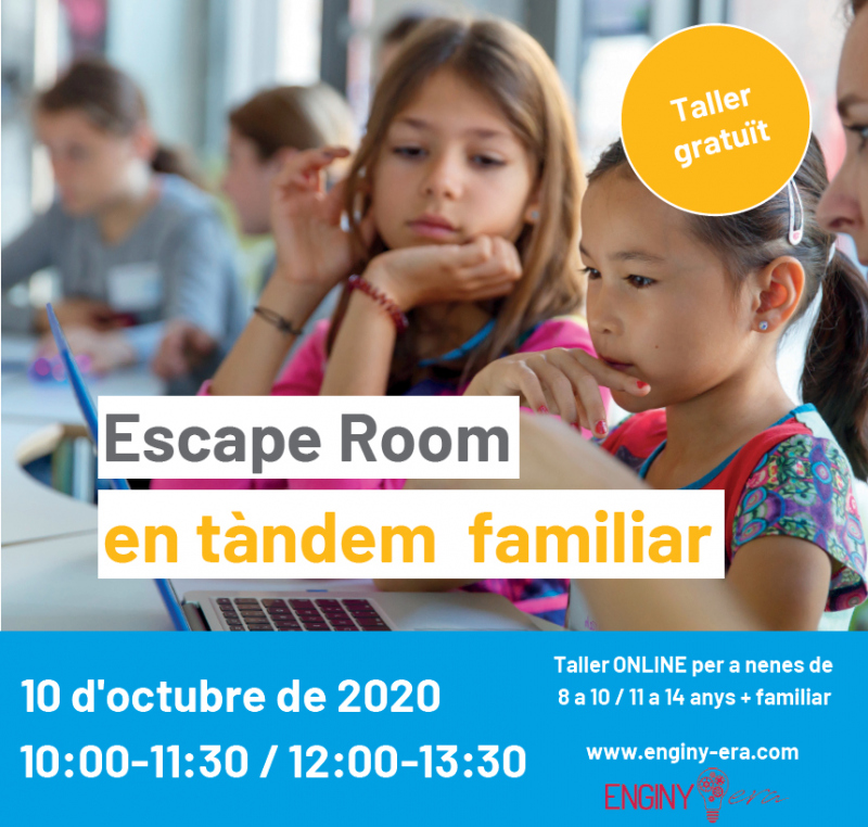 Afanyeu-vos! Últimes places pel taller gratuït ESCAPE ROOM EN TÀNDEM FAMILIAR!!! @MeetandCode @SAP @techsoupeurope #meetandcode #codeEU #SAP4Good