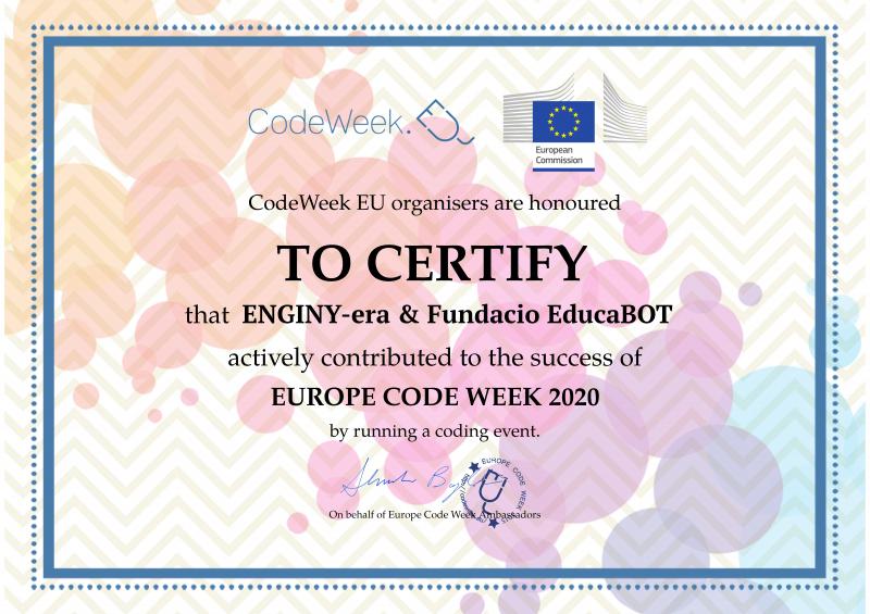 Quina il·lusió que ens fa tenir aquest certificat!