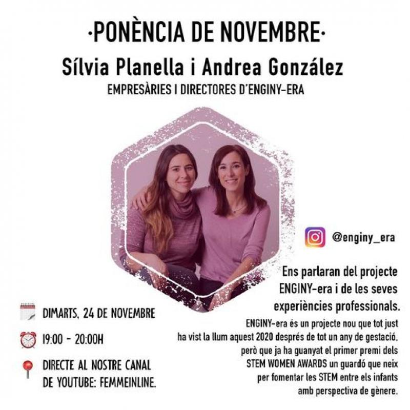 ENGINY-era realitzarà el proper 24/11 la ponència de Novembre de Femme inline