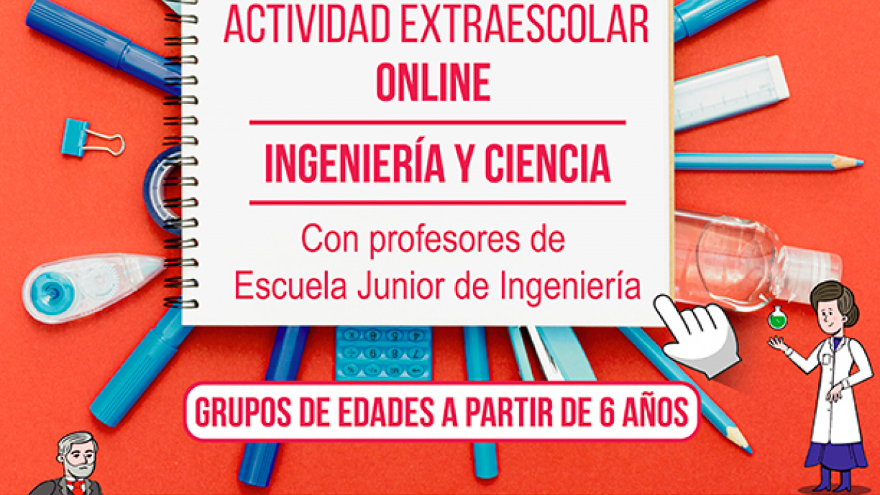 ¡¡¡En enero abrimos nuevos grupos de la extraescolar online de INGENIERÍA & CIENCIA!!! ¿Te lo vas a perder?