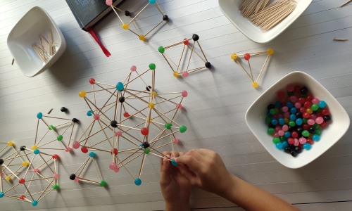 It is impressive when a child understands a three-dimensional structure and is able to do it for himself