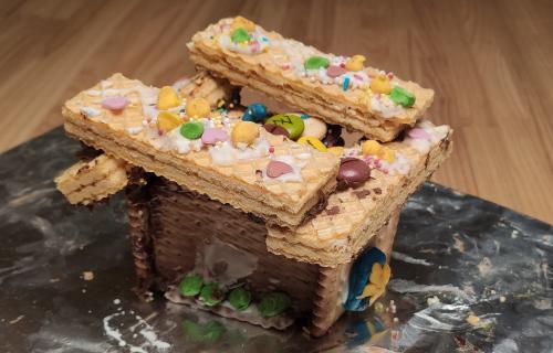 ¡Yo quiero una casa hecha de galletas y azúcar como ésta!