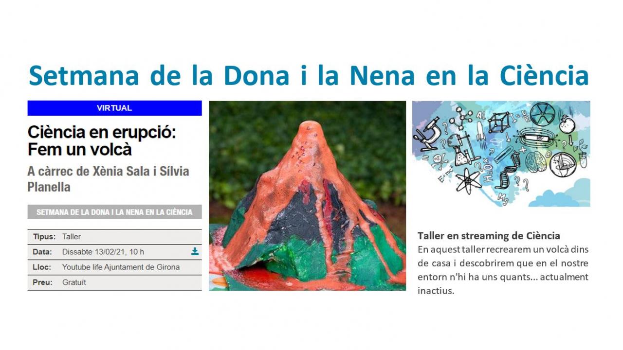 No us perdeu demà dissabte a les 10h el taller gratuït de Ciència en streaming pel Youtube de l'Ajuntament de Girona. Us hi esperem!