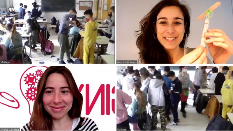 Ahir vam celebrar el Dia de la Dona amb l'escola Marcel·lí Moragas fent un taller d'Enginyeria