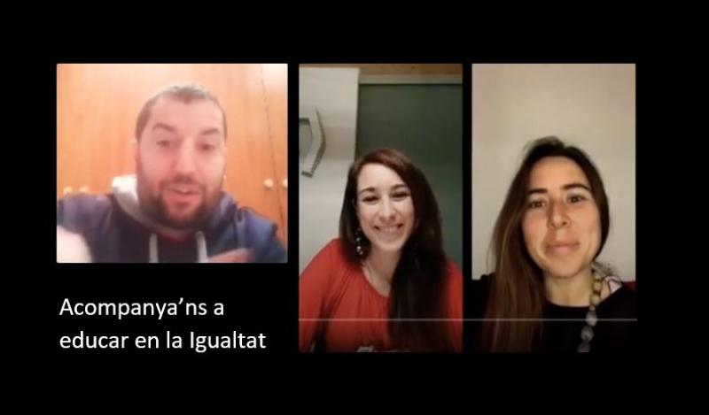 Entrevista a Instagram live per parlar de com educar en la igualtat