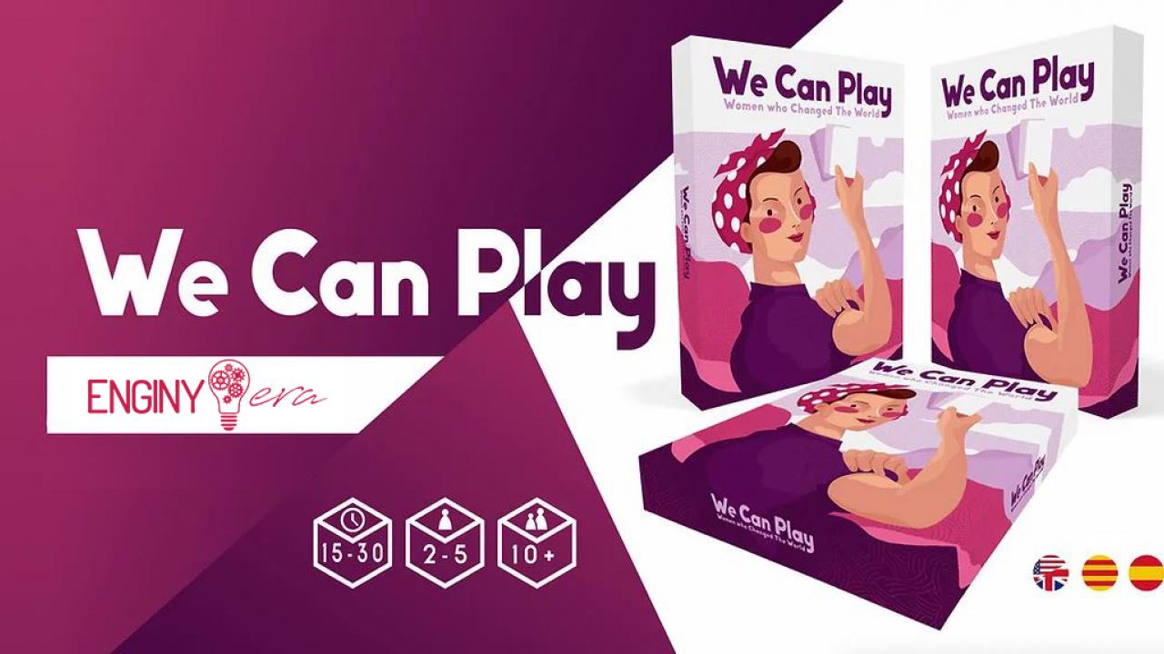 Ajuda'ns a fer possible el joc de cartes WE CAN PLAY i dona visibilitat al talent femení jugant! / ¡Ayúdanos a hacer posible el juego de cartas WE CAN PLAY y da visibilidad al talento femenino jugando!