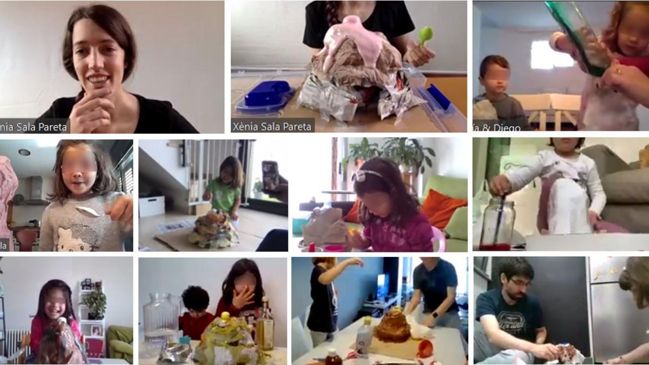 Hoy hemos realizado un taller de ciencias en el Proyecto Oracle4Girls