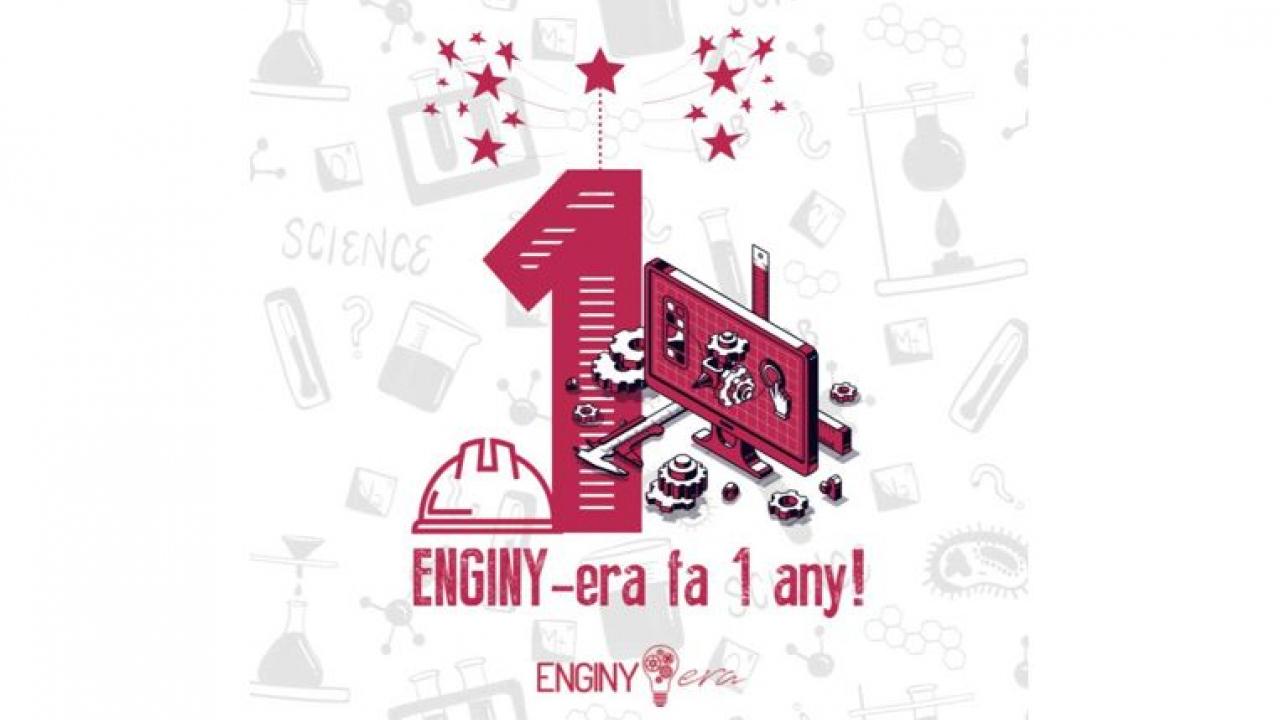 ENGINY-era fa 1 any!!! 🎉⚙️🎊🧬🎁👩💻➕