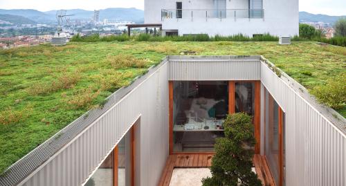 Coberta vegetal: integració i màxima eficiència. Cubierta vegetal: integración y máxima eficiencia.