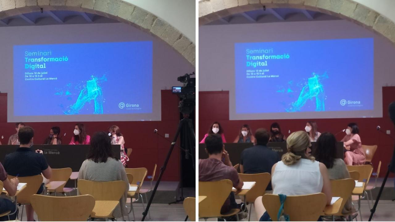 """Avui hem participat en dues Taules del semimari """"Transformació Digital 2021"""" impulsat per l'Ajuntament de Girona"""