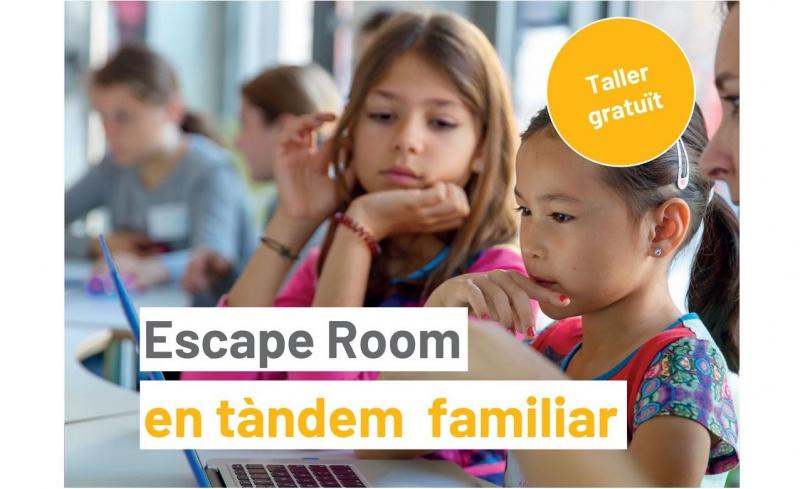 Inscripcions obertes al taller ESCAPE ROOM EN TÀNDEM FAMILIAR per a nenes de 8 a 14 anys!