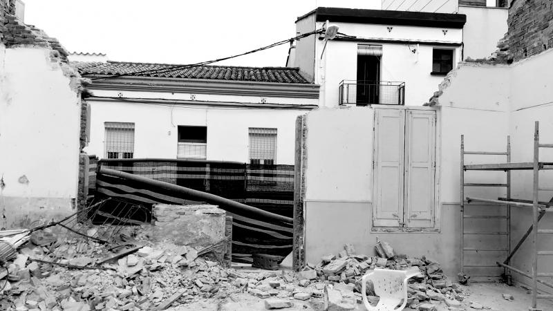 Inici d'obres de la reforma i ampliació d'una casa
