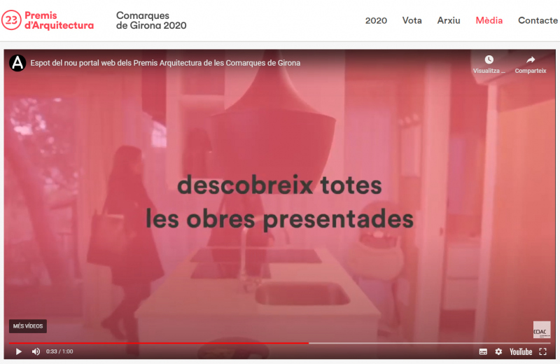 Obres de Ricard Turon en el vídeo promocional dels Premis d'Arquitectura de les Comarques de Girona 2020