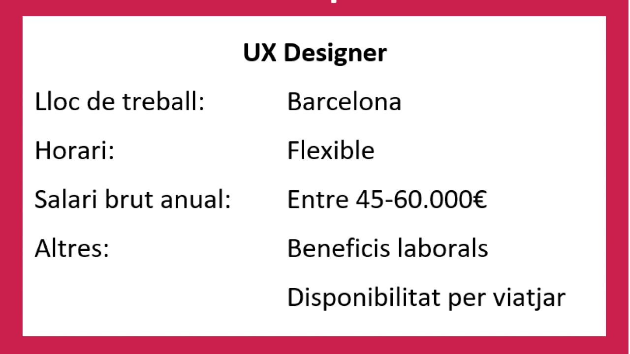 OFERTA VIGENT: UX designer for a library/SDK